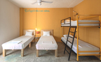 4 Bed Small Community Room Plus at Hotel | Cancún, Quintana Roo, Mexico